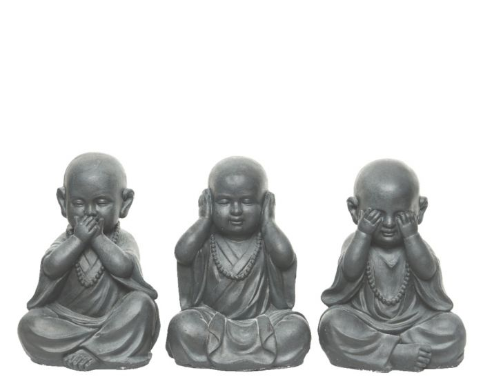 Kaemingk Magnesium Sitting Monk Anthracite