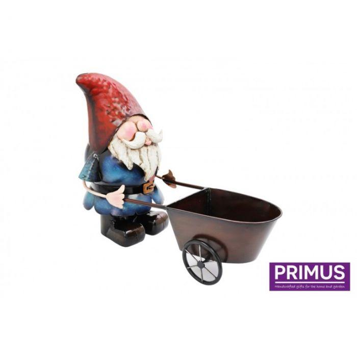 Primus Metal Gnome Wheelbarrow Planter