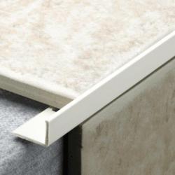 Tile Rite L Profile Trim 12Mm X 2.44M White Plastic