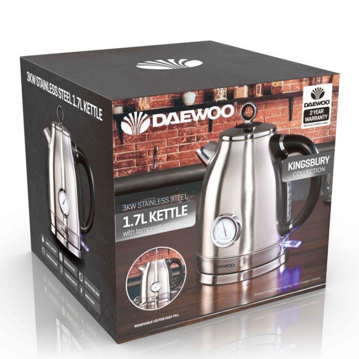Daewoo Kingsbury Stainless Steel Dial Kettle 1.7L