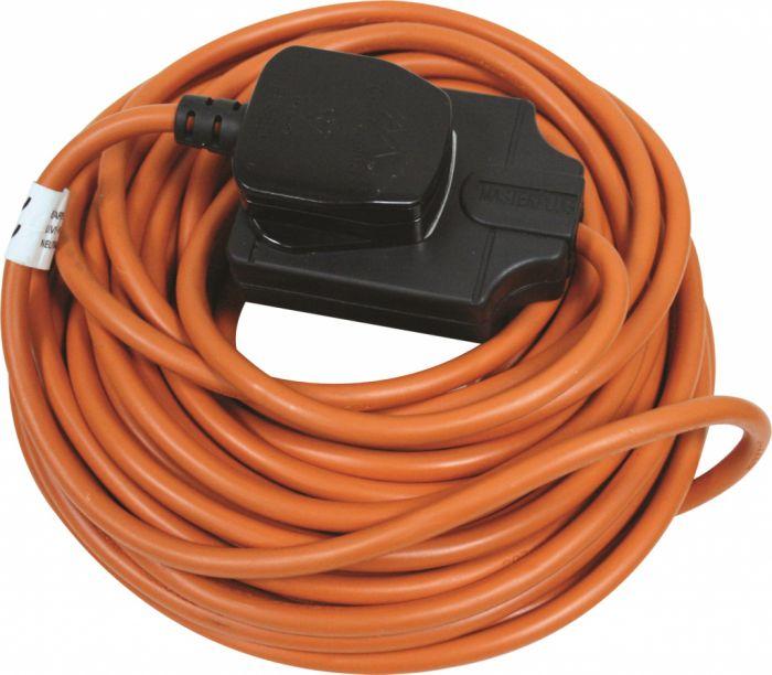 Masterplug Outdoor Heavy Duty Cable Reel Orange 10M 1 Gang