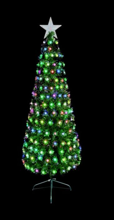 F/O Tree With Colour Changing Ball Decorations