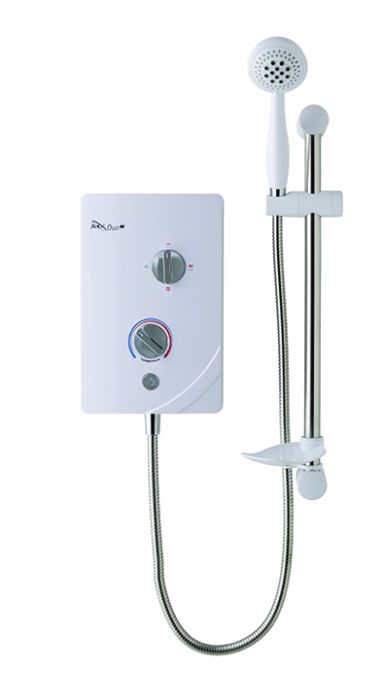 Mx Duo Qi White Chrome Electric Shower 8.5Kw