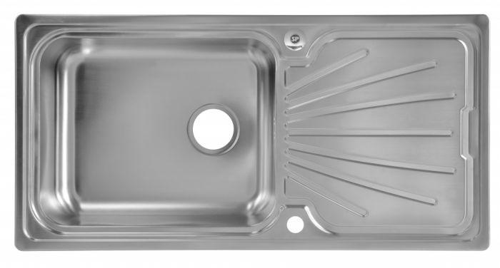 Supaplumb Reversible Extra Deep Bowl Sink 1 Tap