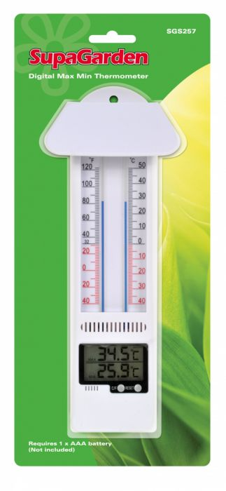 Supagarden Min/Max Thermometer Mercury Free