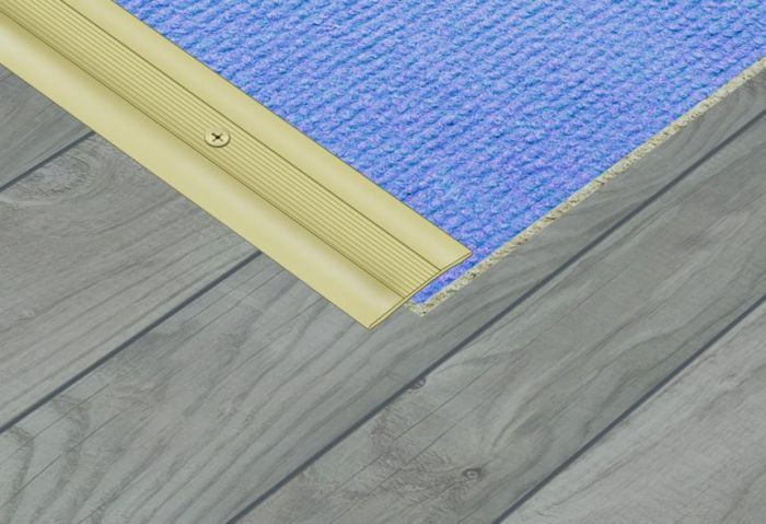Supadec Aluminium Coverstrip Gold Effect 34X900