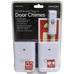 Uni-Com Portable And Plug In Twin Pack Door Chime