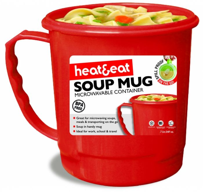 Pendeford Heat & Eat Soup Mug Assorted Colours