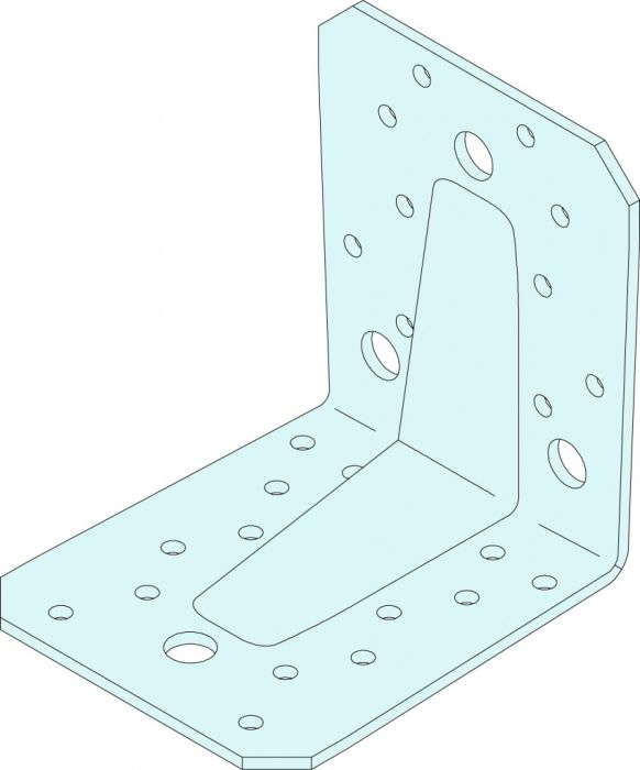 Simpson Strong Tie Heavy Duty Angle Bracket 90 Mm X 105 Mm X 105 Mm - Thickness 3.0 Mm