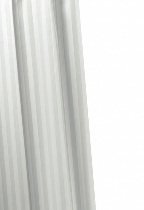 Croydex Woven Stripe Shower Curtain 1800Mm X 1800Mm White