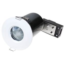 Powermaster Ip65 Fire Rated Fixed Downlight White