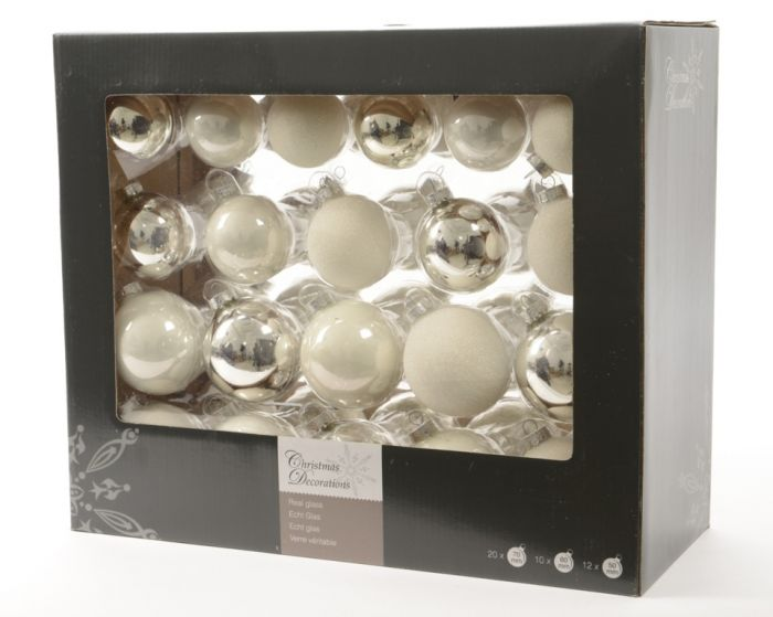Glass Baubles Pack 42