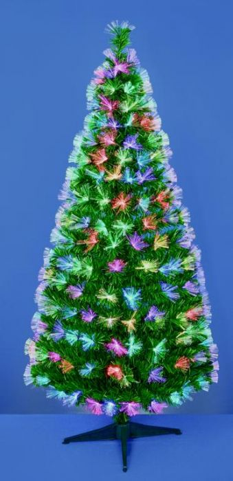 Green Tree With Coloured Fibre Optics