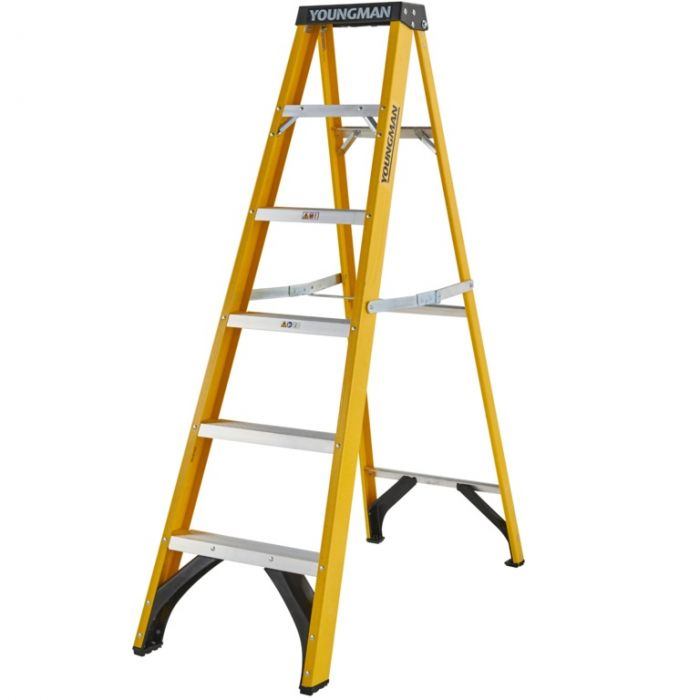 Youngman Fibreglass Ladder 6 Tread