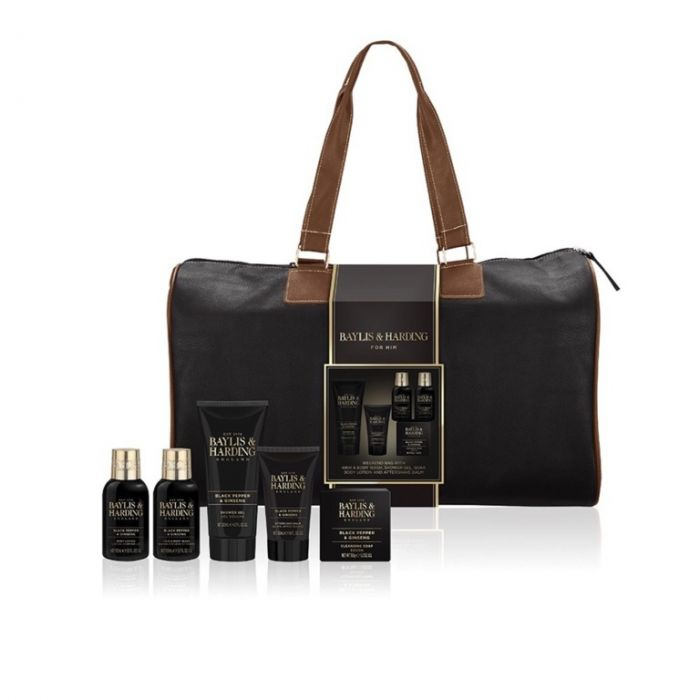 Baylis & Harding Luxury Mens Weekend Bag Black