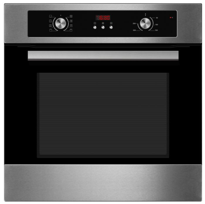 Kitchenplus Stainless Steel Electric Single Fan Oven With Timer 600Mm