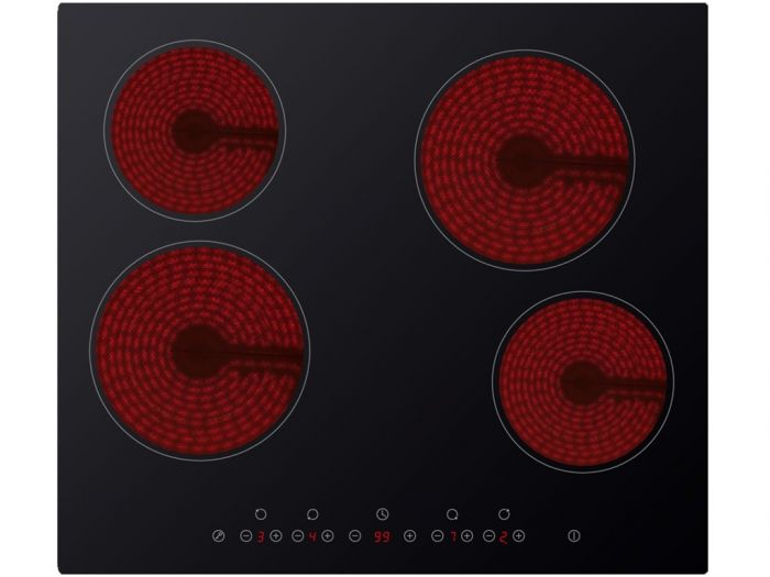 Kitchenplus 4 Zone Ceramic Hob Touch Control - 600Mm