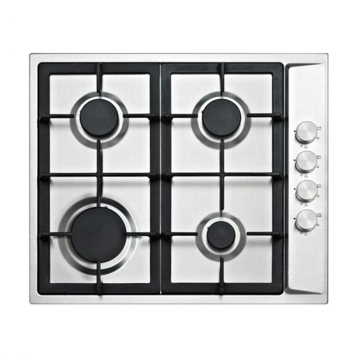Kitchenplus 4 Burner Stainless Steel Gas Hob 600Mm