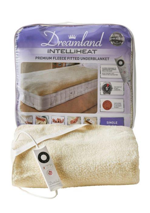 Dreamland Intelliheat Soft Fitted Fleece Single