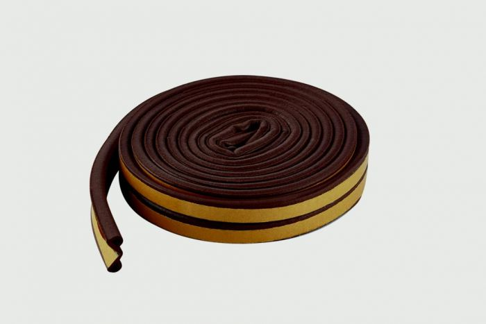 Woodside Epdm P Brown Rubber Strip 5Mtrs
