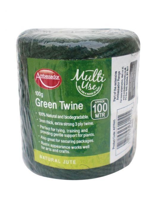 Ambassador Green Jute Twine 100G/100M