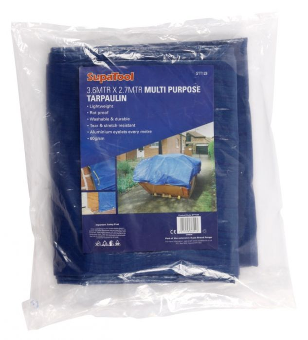 Supatool Multi Purpose Tarpaulin Blue 3.6M X 2.7M