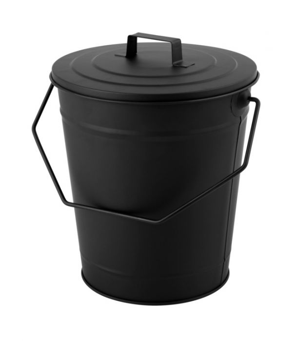 Hearth & Home Coal Bucket With Lid Black