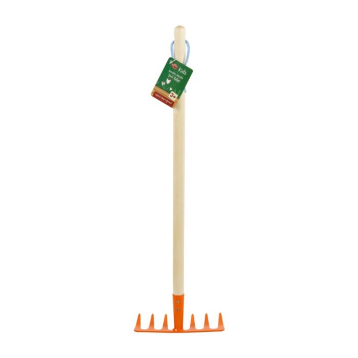 Ambassador Kids Wooden Handle Soil Rake 61Cm
