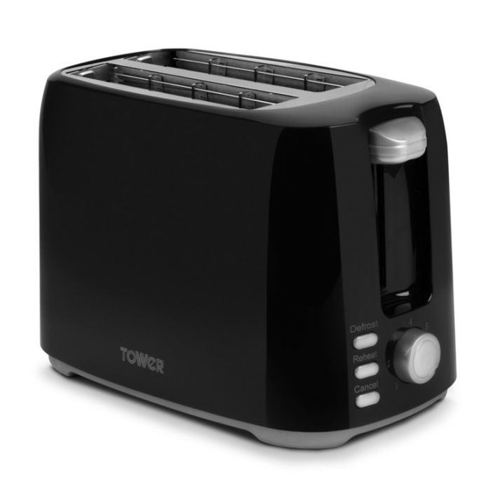 Tower Elements 2 Slice Toaster 750W Black