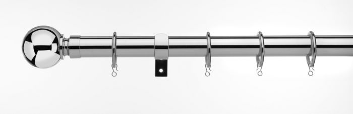 Universal Telescopic Curtain Pole Chrome