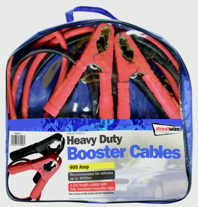 Streetwize Booster Cable 400 Amp To 4000Cc 2.5M