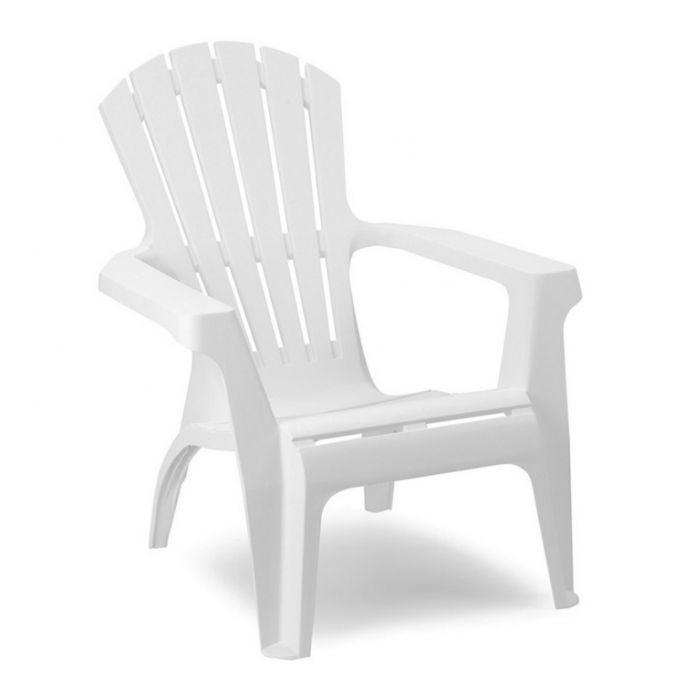 Supagarden Plastic Stackable Armchair White