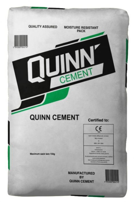 Quinn Cement Ordinary Portland Cement Grey - 25Kg