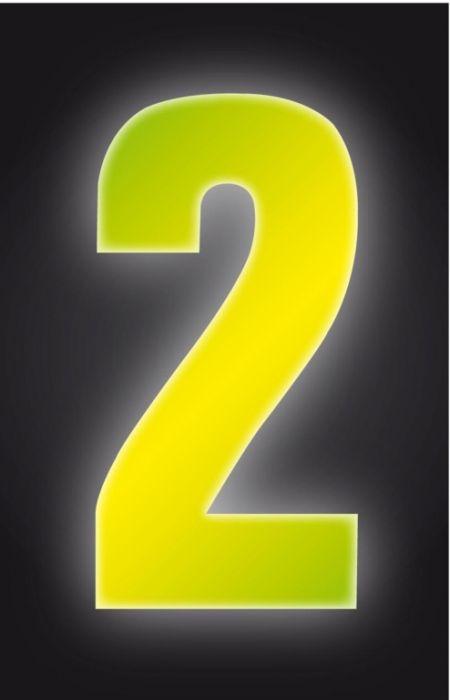 Classic Designs Hi Vis Yellow Wheelie Bin Number 2