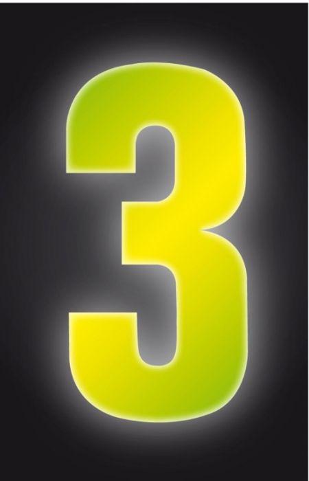 Classic Designs Hi Vis Yellow Wheelie Bin Number 3