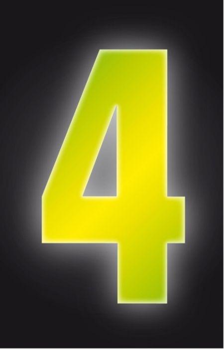 Classic Designs Hi Vis Yellow Wheelie Bin Number 4