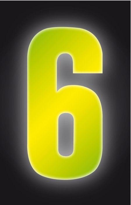 Classic Designs Hi Vis Yellow Wheelie Bin Number 6