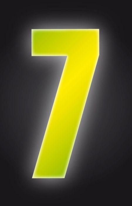 Classic Designs Hi Vis Yellow Wheelie Bin Number 7