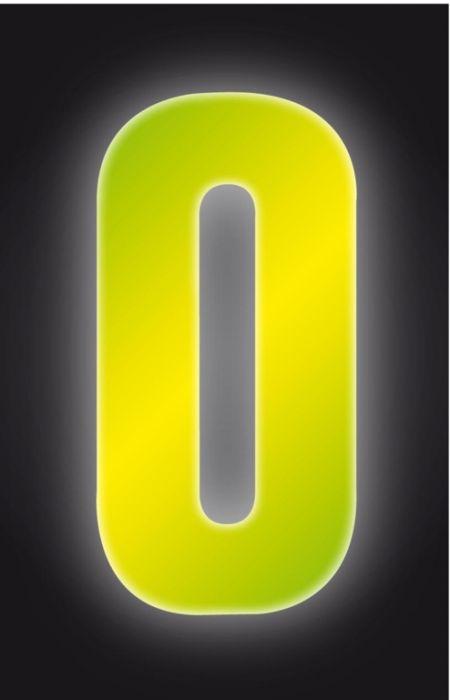 Classic Designs Hi Vis Yellow Wheelie Bin Number 0