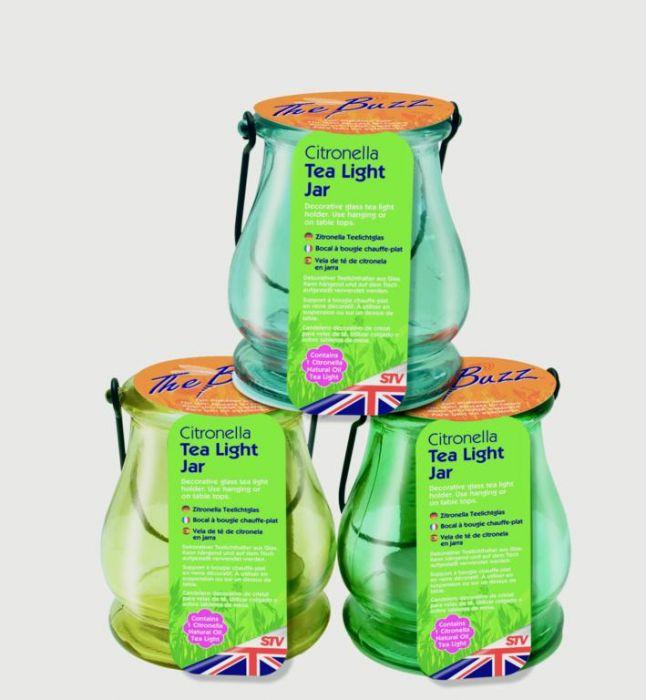 The Buzz Citronella Tea Light Jar