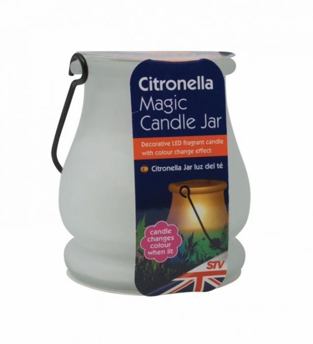 The Buzz Citronella Magic Candle Jar