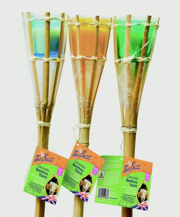 The Buzz Citronella Bamboo Torch