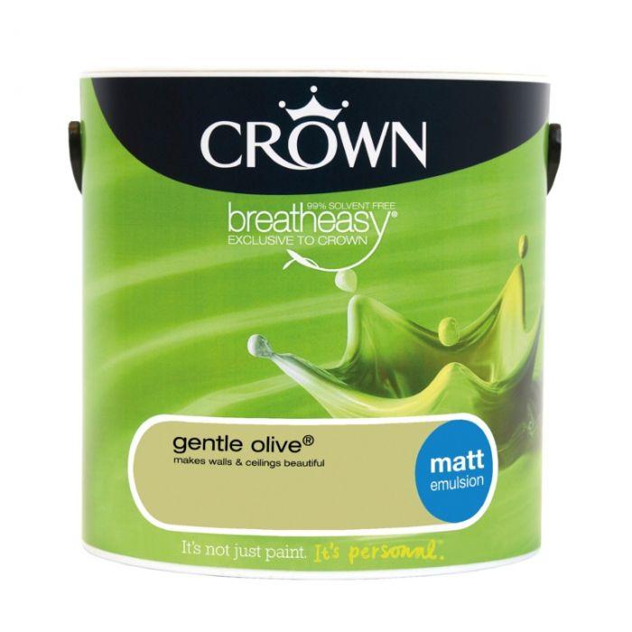 Crown Matt Emulsion 2.5L Gentle Olive