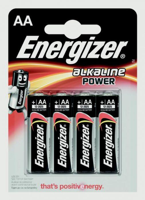 Eveready Energizer Alkaline Power Aa E91 Pack 4