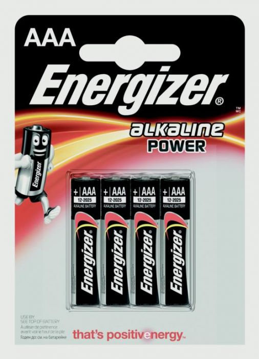 Eveready Energizer Alkaline Power Aaa E91 Pack 4
