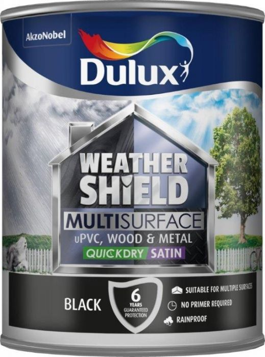 Dulux Weathershield Multi Surface 750Ml Black