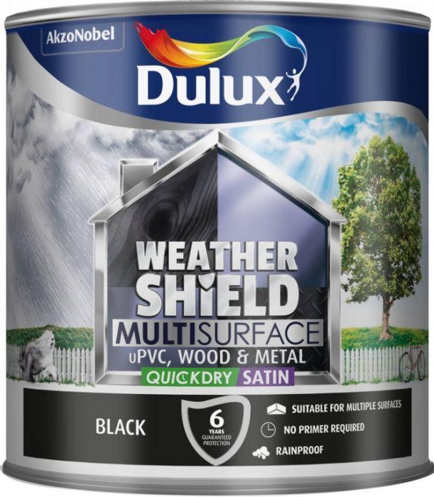 Dulux Weathershield Multi Surface 2.5L Black