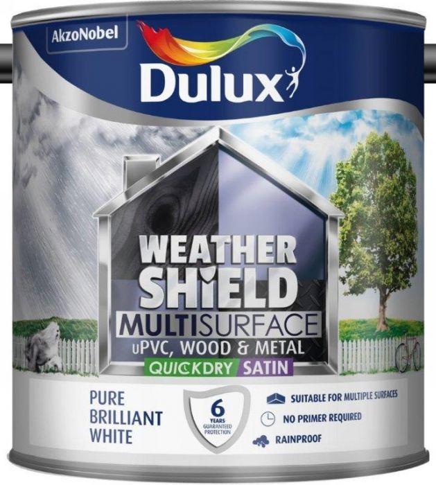 Dulux Weathershield Multi Surface 750Ml Pure Brilliant White