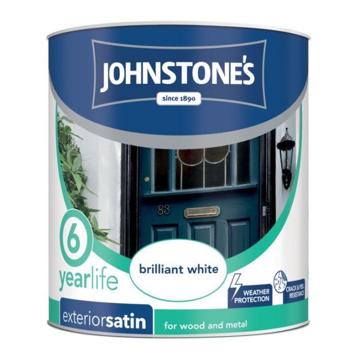 Johnstone's Exterior Quick Dry Satin 750Ml Brilliant White