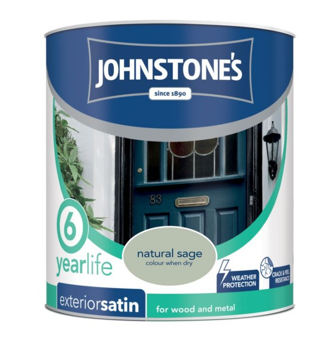 Johnstone's Exterior Quick Dry Satin 750Ml Natural Sage